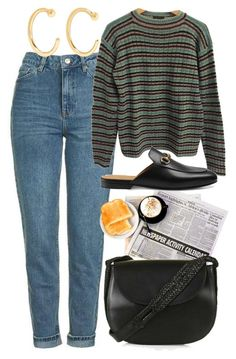 """""""Untitled #5579"""" by rachellouisewilliamson on Polyvore featuring Prada, Gucci, Topshop and Melissa Joy Manning"""