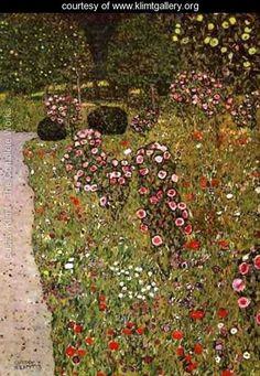 Fruit Garden With Roses - Gustav Klimt - www.klimtgallery.org
