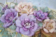 Kartkowy Świat Gosi: Kartka gratulacyjna i krótki kurs - jak robię magnolie ;)