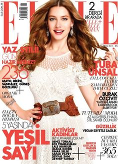 adorable white lace dress and big belt Elle Magazine, Magazine Covers, Princess Caroline, Cover Photos, White Lace, Lace Dress, Vogue, Bikini, Glamour