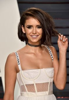 Nina Dobrev Debuted a New Haircut at the 2017 Oscars