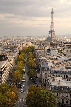 Eiffel Tower from Arc de Triomphe, Paris VIII