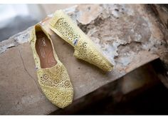 Toms Shoes - Lemon Crochet Womens Classics lifestyle - these are so cute! Plus how can you beat their mission?
