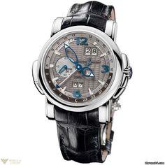 Ulysse Nardin GMT Perpetual 18K White Gold Grey Dial Men`s Watch Model No. 320-60/69