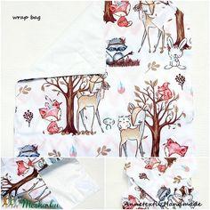 Wrap bag - vízhatlan szalvéta  őzikékkel (annetextil) - Meska.hu Bagan, Apron, Shirt Dress, Mens Tops, Shirts, Dresses, Fashion, Vestidos, Moda