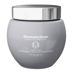 Nourishing, Exfoliating Body Scrub - White Tea - Water Lily  Exfoliate and hydrate your skin with Dermalactives body scrub and leave it smooth, soft and healthy.   Dermalactives body scrub removes dead skin cells, improves the look of the skin, makes the skin glow and encourages the natural flow of circulation and bodily fluids within.   Renew your skin and enjoy a relaxing feeling with the use of Dermalactives body scrub.