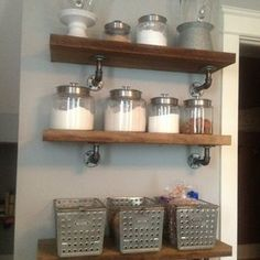 pipe shelving design ideas | Industrial Style Shelves by Jessi Fonder