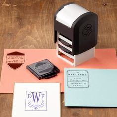 I pinned this Mason Row Personalized Trio Stamp from the Expertly Organized event at Joss and Main! only $20,,,good deal for 3 stamps