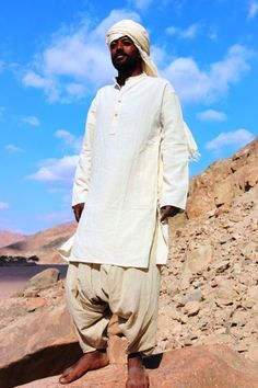 Organic Cotton Long Kurta by PrimitiveTribalCraft on Etsy