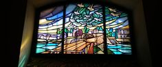 Lafayette Escadrille Memorial Cemetery: A stained-glass window depicts small planes flying over a village.  The Lafayette Escadrille Memorial Cemetery commemorates the birthplace of American combat aviation, and serves as a symbol of the Franco-American comradeship during World War I. This site honors the American volunteer pilots who flew with French squadrons during the Great War, and is the final resting place for some of America's first combat aviators and their French Officers.
