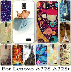freeshipping hotsale For Lenovo A328 A328T cool skin shell cover case new stylish effiel tower mobile phone case bag hood