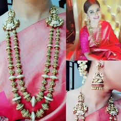 15 Times Actress Sneha Stunned Us With Her Jewels! Indian Jewelry Sets, Indian Jewellery Design, Jewellery Designs, India Jewelry, Temple Jewellery, Bridal Blouse Designs, Saree Blouse Designs, Sari Blouse, Beautiful Girl Indian