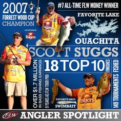 Folgers pro Scott Suggs is the 2007 Forrest Wood Cup Champion and will be  fishing his year on the Walmart FLW Tour in c05eaead6869