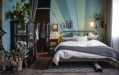 IKEA IDEAS: Love the bedroom wall