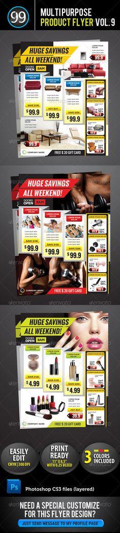 Promotion Flyer Vol.9 Corporate Flyer, Business Flyer, Promotional Flyers, Flyer Printing, Flyer Layout, Flyer Design, Banner Design, Creative Advertising, Print Design