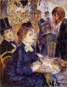 Pierre-Auguste Renoir (French, 1841-1919) : The Café, 1875. Rijksmuseum Kröller-Müller, Otterlo, Netherlands.
