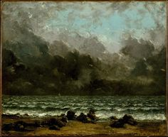 Le Prince Lointain: Gustave Courbet (1819–1877), La Mer - vers 1865