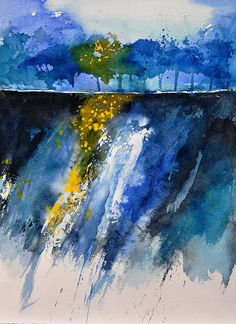 Watercolor 119001 Painting  - Watercolor 119001 Fine Art Print