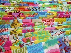 Patchwork strips (fabric = Amy Butler's Soul Blossoms)