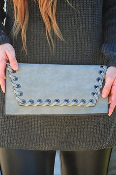 Treat Your Heart Clutch: Gray