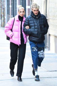 Dua Lipa And Anwar Hadid Out in New York 12202019 dualipa celebrity fashion clothing closet celebrityfashion celebritystyle celebritystreetstyle streetfashion streetstyle