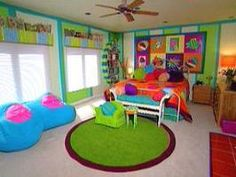 Superbe Candy Coated Bedroom, Cute For A Kids Or Craft Room