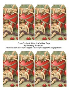 Etiquetas para san Valentín, imprimibles gratis - Free Printable Valentine's Day Tags by Sweetly Scrapped Victorian Valentines, Vintage Valentine Cards, Vintage Greeting Cards, Valentine Crafts, Free Printable Tags, Free Printables, Printable Valentine, Mason Jar Clip Art, Diy Arts And Crafts