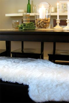 Feeling Sheepish (Part 2) | Young House Love ...making faux sheepskin throws for about $5/each