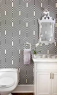 This Is Happening: Ladylike With An Edge | Pinterest | Wallpaper, Powder  Room And Bathroom Wallpaper