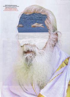 Le Argente / The Sanskrit Researcher by Tatiana Vela. Sanskrit, Collage, Sea, Drawings, Artwork, Image, Sketches, Work Of Art, Ocean