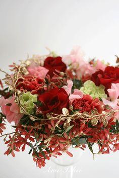 ☆.。.:*・花美を創造する毎日 in 二子玉川☆.。.:*・-レッドクリスマス