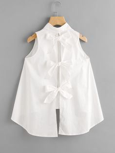 Shop Bow Tie Back High Low Blouse online. SheIn offers Bow Tie Back High Low Blouse & more to fit your fashionable needs.Bow Tie Back High Low Blouse For some who loves cutesy bows etc this is divineTo find out about the [good_name] at SHEIN, part of Little Girl Outfits, Little Girl Dresses, Girls Dresses, Dresses Dresses, Summer Dresses, Wedding Dresses, Kids Fashion, Fashion Outfits, Dressy Outfits