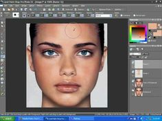 Even Skin tone with Corel Paint Shop Pro X2 and remove a shiny face