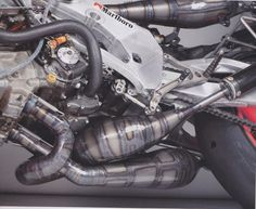 500cc Racing Motorcycle Exhaust System