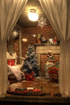 Image result for christmas tree lot window display