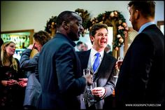 Wedding guests enjoying the reception at Holbrook House -