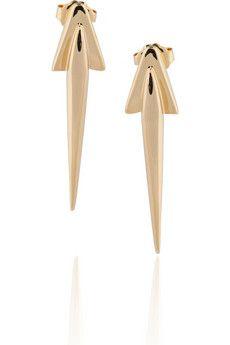 DOMINIC JONES  Nantes 23-karat gold-plated spike earrings