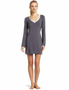 Calvin Klein Women`s Essentials Satin Long Sleeve Night Dress
