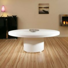Modern Luxury Large Oval White Gloss Dining/Boardroom Table / Tables by Quatropi, http://www.amazon.co.uk/dp/B00DC97I6U/ref=cm_sw_r_pi_dp_aiMGtb1C78JHZ