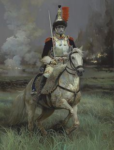 Currasier-by Pamela Patrick White by White Historic Art Oil ~ x Military Art, Military History, Military Drawings, Horse Facts, French Army, Historical Art, Napoleonic Wars, Art Portfolio, Canvas Prints