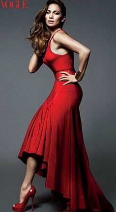 Only thing better than a red dress is a red dress with heels