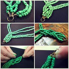 Bead Necklace: DIY Braided Bead Strand Tutorial