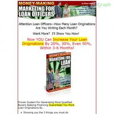 New Money Making Marketing E-book For Mortgage Loan Officers. Increase Your Pipeline And Originate More Home Loans With Insider Marketing Ideas. See more! : http://get-now.natantoday.com/lp.php?target=erheb