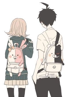 Nanami x Hajime Danganronpa 3 Anime Love, Manga Love, Manga Girl, Anime Girlfriend, Manga Romance, Manga Anime, Photo Manga, Nanami Chiaki, Bts Art