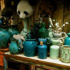 Vases et pots turquoises chez Fleux'