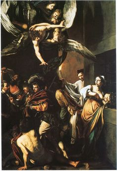 Caravaggio, Os Sete Obras de Misericórdia, 1607, óleo sobre tela, 390 x 260 centímetros (Pio Monte della Misericordia, Nápoles)