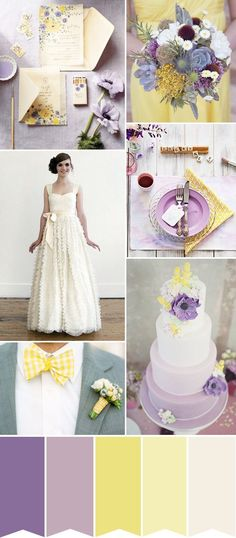 Lilac and Lemon wedding inspiration | See how to create the look on www.onefabday.com