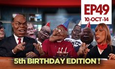 """PUPPET NATION ZA EPISODE 49 - This week is ZANEWS's fifth birthday! Comedy writes itself with the ANC going full circle and opposing the e-tolls it put in Gauteng in the first place, Shrien Dewani's trial reveals some sordid truths, the EFF walk out on their disciplinary hearing for walking out on Parliament, Cape Town's new """"open mosque"""" goes under fire, Christiano Ronaldo still won't take his shirt off, and Debora's Hard Shout rubs off on a very vexed Desmond Tutu for his 83rd birthday."""