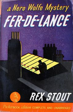 Fer-De-Lance by Rex Stout. Purple Pulp mystery novel cover