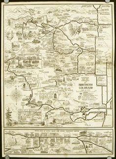 rocky mountain maps colorado | Rocky Mountains And Denver